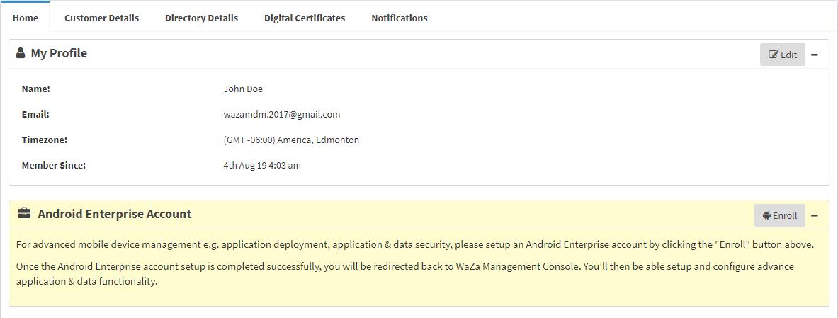 Android Enterprise Enrollment