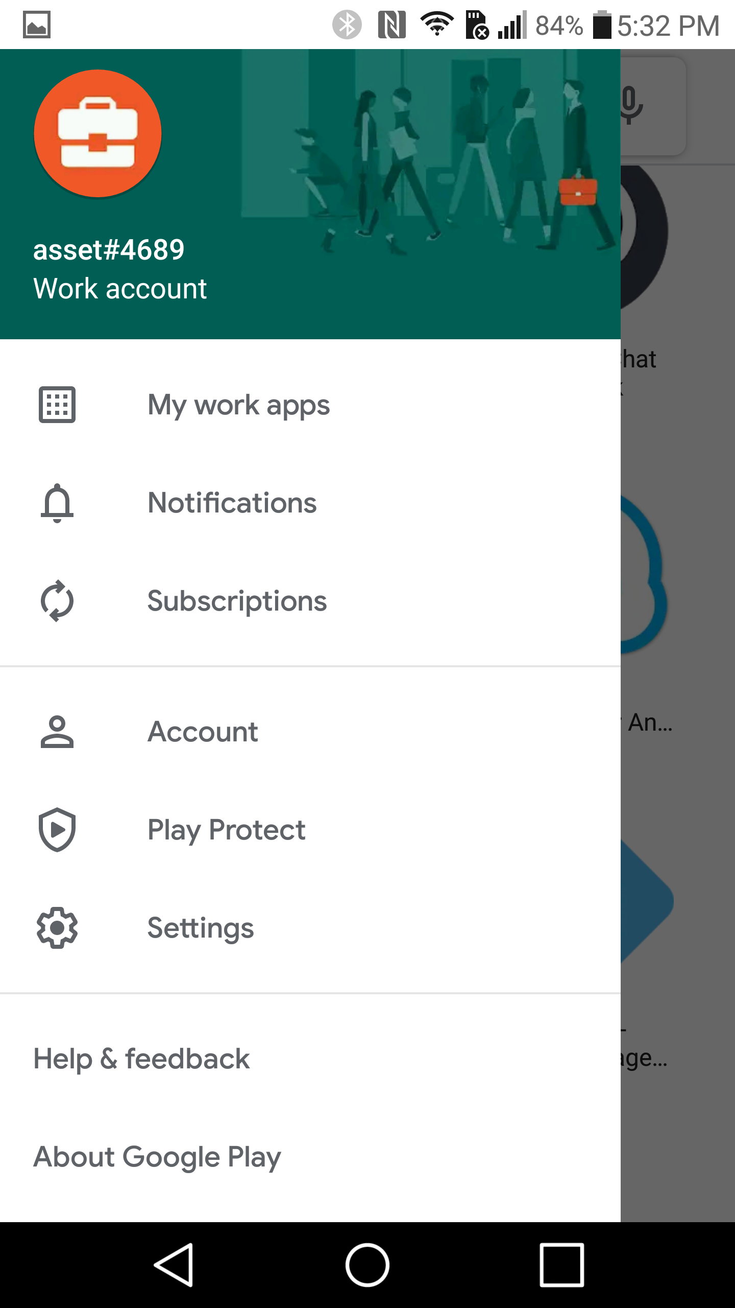Managed Google Play Account Setup