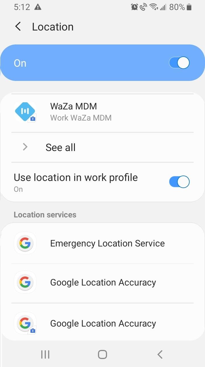 Location Tracking Setup for WaZa Mobile Application